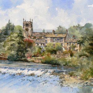 river aire at bingley (L)