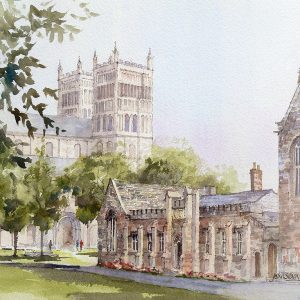 cathedral and library, durham (L)