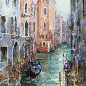 Lone Gondola Venice