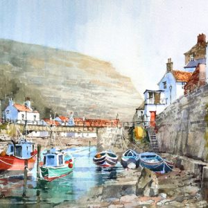 Red boat Staithes (L, M)