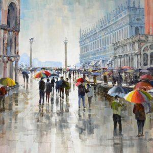 Rain St Marks Square