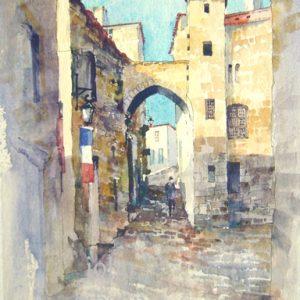 in St Emillion - watercolour - 10 in x 7in - £130