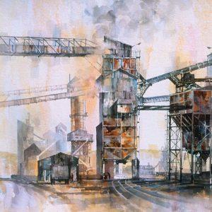 Swinden Quarry 1980 - watercolour - 26in x 20in - £850