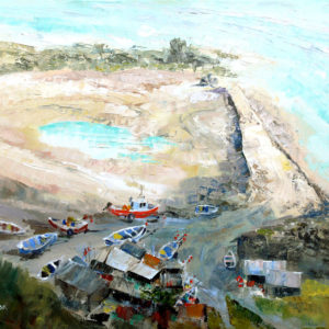 Low Tide at Port Mulgrave - oil on canvas - 18in x 14in - £550