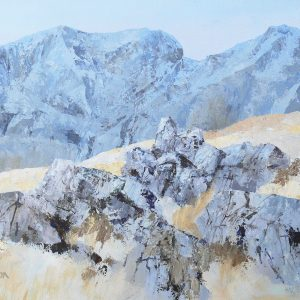 Scafells from Bowfell - acrylic on canvas - 20in x 18in £800