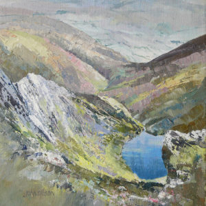 Scales Tarn and Sharp Edge Blencathra - oil on canvas - 12in x 8 in - £275