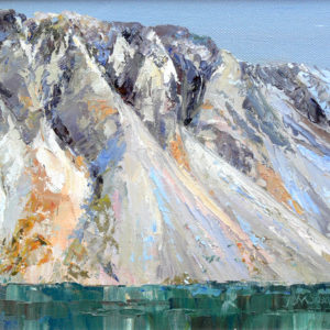Wastwater Screes - oil on board - 10in x 8in - £130