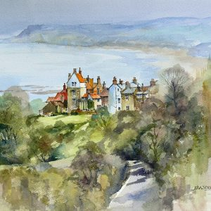 robin hoods bay from north