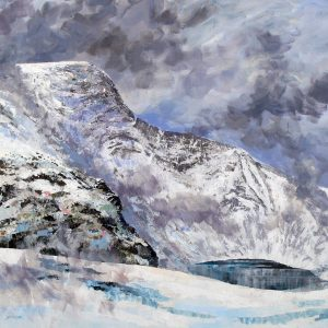 Clearing mist sharp edge blencathra - acrylic on canvas - 35in x 31in- £950