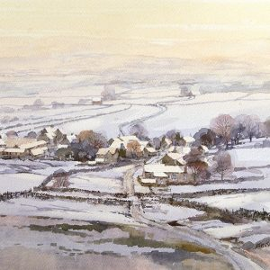 snow at Murton Cumbria - watercolour - 17inx13in - £500